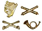 Set Of 4 Metal Kepi Insignia Badges